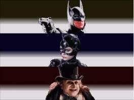 Batman, Catwoman & de bizarre, sinistere Penguin. De hoofdrolspelers in deze game.