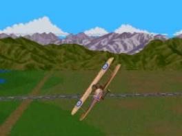 Een van de weinige games waar je een dubbeldekker vliegtuig kan besturen.
