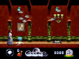 Hier zien we Casper met Christina Ricci uit de film waar dit spel is op gebaseerd.