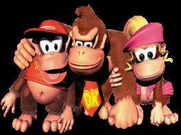 Speel als Diddie Kong en Dixie Kong op zoek naar de vermiste Donkey Kong!