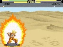 Volgens mij heeft Goku hier z'n tegenstander al uit beeld geblazen.