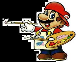Mario Paint: Afbeelding met speelbare characters
