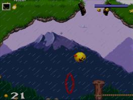 Naast snoep happen kan Pac-Man ook naar lucht happen als ie aan het zwemmen is!