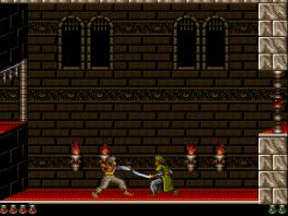 Prince of Persia, een game die je doet denken aan <a href = https://www.mariosnes.nl/Super-Nintendo-game.php?t=Disneys_Aladdin target = _blank>Aladdin</a>.