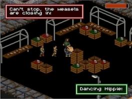 Pas op voor dansende hippies op de markt! Gelukkig zijn ze wel bang voor de Wezels.