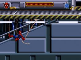Net als in de film kan Spiderman met z'n web slingeren.