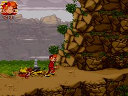 Je bent nooit alleen in dit spel, je hebt namelijk gezelschap van je vriendje de eekhoorn.