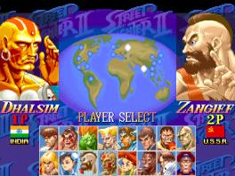 In deze versie van Street Fighter 16 verschillende vechters.