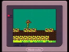 Hier word Metroid II gespeeld op de Super Game Boy.