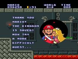 Na 8 werelden afzien krijgt Mario dan toch eindelijk die kus van Princess Peach...
