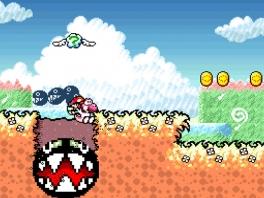 Ga al rennend en springend de levels door met Yoshi en Mario! Pas ook op voor de onverwachte obstakels.