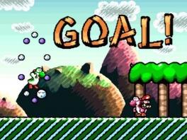 Op het einde van het level staat een andere Yoshi op je te wachten!