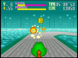 Een van de spellen waarmee de Super Scope werkt is Yoshi's Safari.