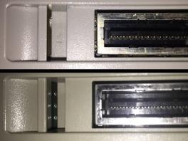 1CHIP SNES heeft geen puntjes en een serie nummer UP177 of hoger.