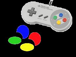 De kleuren van de knoppen zijn gebaseerd op het logo van de <a href = https://www.mariosnes.nl/Super-Nintendo-game.php?t=Super_Nintendo target = _blank>SNES</a>, of is het misschien wel andersom?
