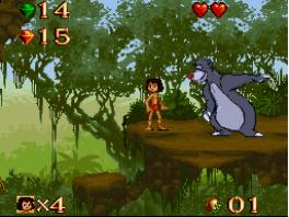 Hey! een oude bekende, de beer Baloo. Die kan je vast helpen.