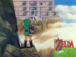Het ziet er best koud uit daar in de bergen... Zou je niet eens een broek aandoen, Link?