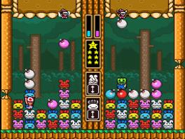 Je speelt als Toad, die moet Wario verslaan.