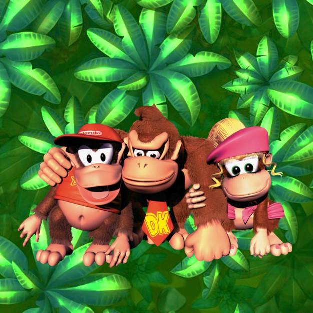Donkey Kong, Diddy Kong en Dixy Kong op de Nintendo Entertainment System