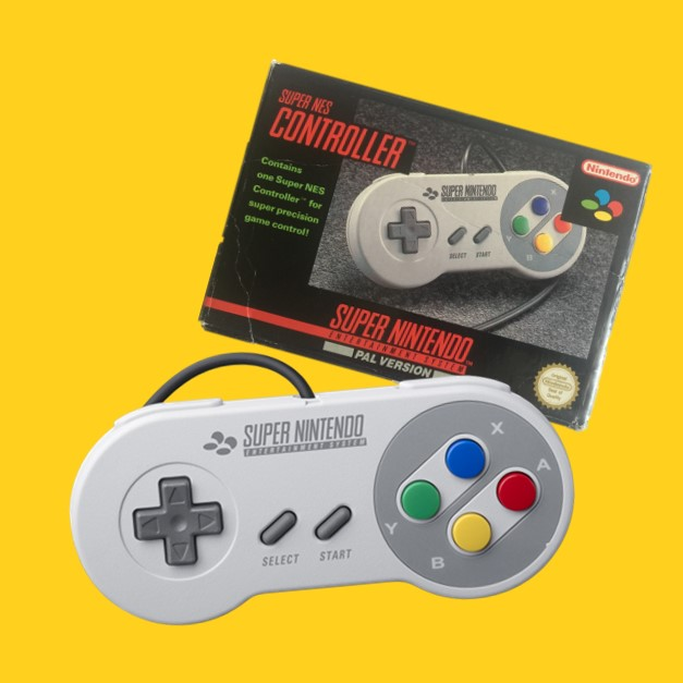 SNES originele controllers met doosje
