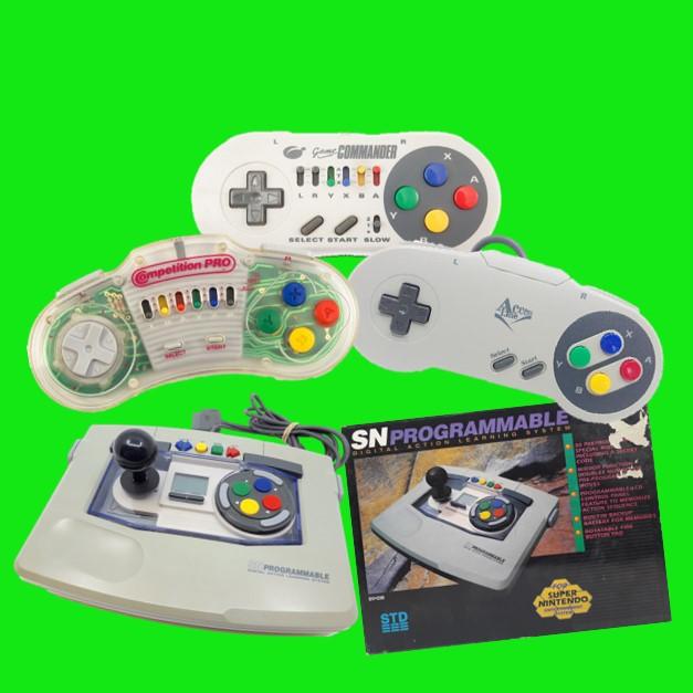 SNES controllers joysticks en pro pads
