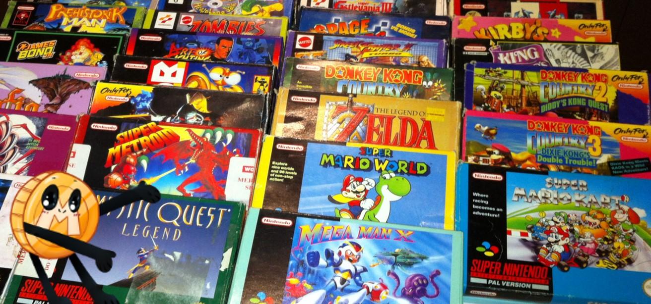 SNES games in doos / CIB voor verzamelaars